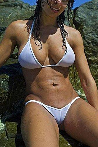 Tinpia See Through Micro Bikini Set Brazilian Sheer Sex Swimwear Beachwear Swimsuit