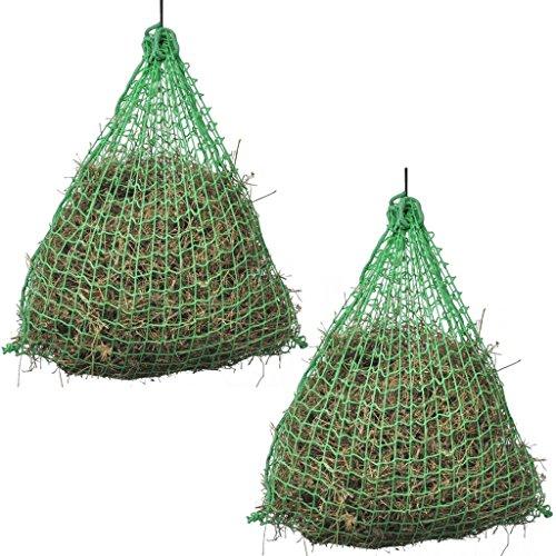vidaXL Redes para Heno 2 Unidades Cuadradas 0,9x1,5 m Material PP Color Verde