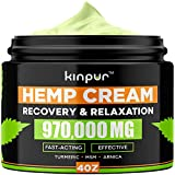 Best Arthritis Creams - Natural Hemp Cream with MSM, Arnica, Emu Oil Review