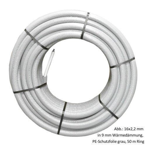Viega Sanfix Fosta PE-Xc/AI/PE-Xc-Rohr 16x2,2mm, 9mm Wärmedämmung, 50m Ring