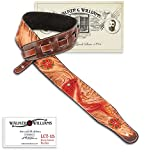 Walker & Williams LCT-15 100% Hand Made Leather Strapwith Hand Tooled Red Koi