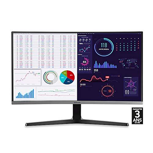 """Samsung C27R500FHR Ecran PC Incurvé, Dalle VA 27"""" Bezel Fin, Résolution FHD (1920 x 1080), 60 Hz, 4ms, AMD FreeSync, Noir"""