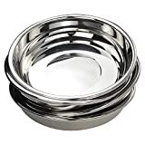 Doryh 18/10 Stainless Steel Dinner Plates Dishes Set, Round Camping Plates, 8.65-Inch/Set ...