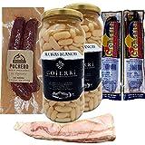 Lote Puchero Alubias Blancas, Morcilla de Burgos, Chorizo y Panceta Ibérica - Un rico plato de legumbre (Lote con Alubias Blancas)
