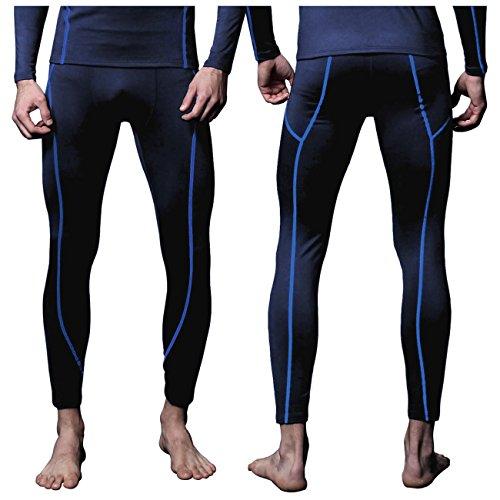 FITEXTREME Mens MAXHEAT Fleece Long Johns Thermal Underwear Bottom Navy S