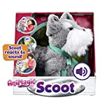 Animagic Scoot, Soft Plush, Sound Responsive Movement Dog-Peluche interactivo, multicolor (Vivid Toys 31361.4300) , color/modelo surtido