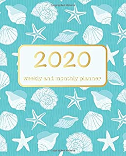 2020 Weekly and Monthly Planner: Calendar Schedule | Academic Organizer |  Daily Weekly Monthly W/ To Do List  | Personal Planner| Academic Schedule ... Sea Shells Turquoise Cover | Beach Theme art