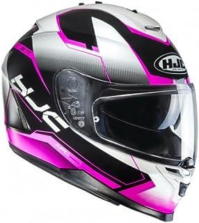 HJC Helmet Motorrad-Helm IS-17 Loktar, Black/Pink, Größe XS