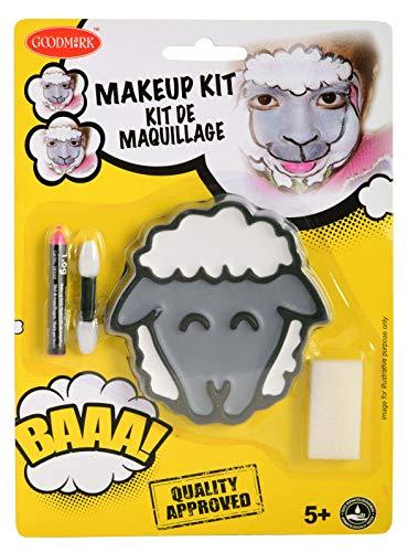 Goodmark 02070811 - Schminkset Schaf bestehend aus: Gesamt 8,4 g Farben (Grau und Weiß), 1,6 g...