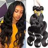 Cheveux humains vierges vague de corps 3 faisceaux extensions de tissage de cheveux 100% trame de cheveux vierges non transformés humains pour les femmes noires