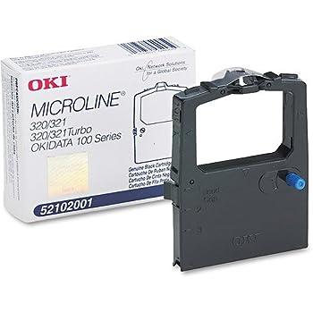 Okidata Black Nylon Ribbon for Microline 320/321 Printers -5/6-Inch x 2 Yards  2 Pack
