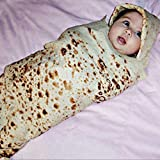 Mantita Bebe Recien Nacido Baby Burrito Manta Harina Tortilla Wrap Manta Gorro Para Dormir 8.4 G