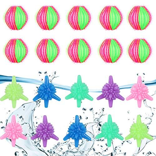 O-Kinee Tierhaarentferner Waschmaschine,10pcs Waschkugeln 10 pcs Fusselbälle,Waschkugel Flusenentferner,Wäscherei Bälle,Mini-Waschbälle,Waschbälle für Waschmaschine (20PCS)