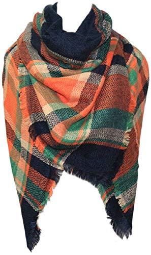 Shawl Tartan Women's Plaid Scarf Winter Oversized Scarves Wrap Blanket Scarf Warm Tassels Pashmina Poncho Scarf