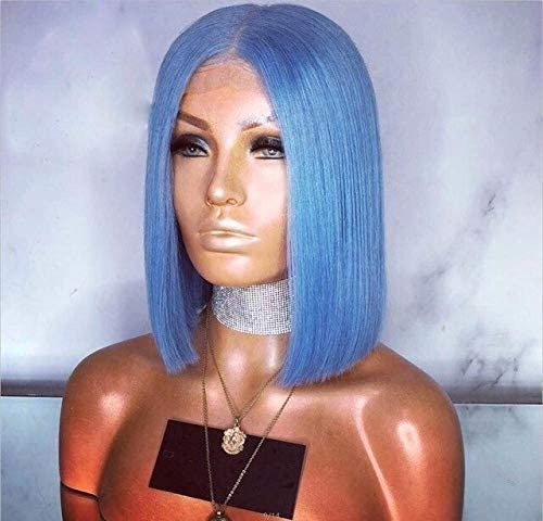 ZHFRC Colorful Short Bob Soldering Lace Front Limited price Light Pin Grey Hair Blue Wig