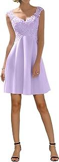 Hotkleider Damen Elegant Spitze V-Ausschnitt A-Linie ChiffonLang Abendkleider Party Prom Abschlussball Brautjungfernkleider