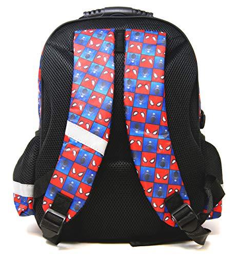 51yvGersQcL - Marvel Spider-Man – Mochila escolar – 38 x 28 x 18 cm – Apto para DIN A4 – Diseño: Spiderman – para escuela, deporte + ocio + Puzzle On the Go