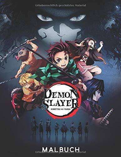 Demon Slayer Kimetsu no Yaiba Malbuch: Fantastisches Malbuch für Kinder, Erwachsene und Fans mit riesigen Seiten und exklusiven Illustrationen