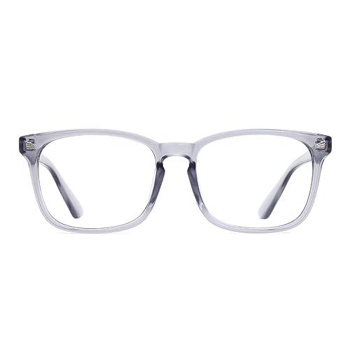 b85057bea94e TIJN Unisex Stylish Square Non-prescription Eyeglasses Glasses Clear Lens  Eyewear