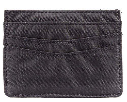 Big Skinny - portafolios delgada con capacidad para 12 tarjetas, color negro