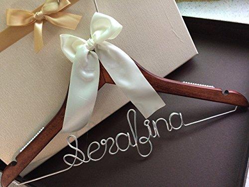 Customized Handmade Wood Wedding Hanger Bridal Bride Bridemaid Wedding Dress Hanger Gift