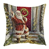 Xinantime Funda Cojines,Xinan Navidad Decoración Santa Claus Hogar Fundas Christmas...