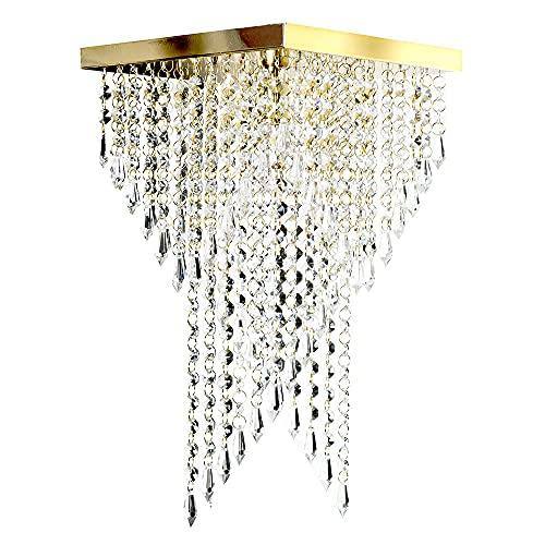 Lustre Pendente Plafon Cristal Crilick Pl7202 Dourado