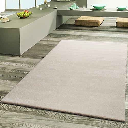 T&T design tappeto da salotto, tappeti di designer di alta qualità, effetto Frieze in crema, Polipropilene, crema, 160 x 230 cm