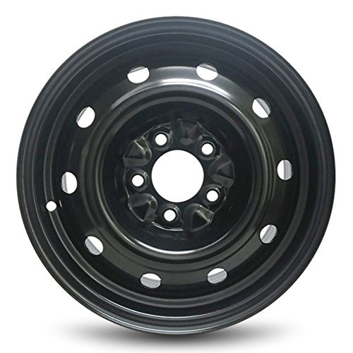 Road Ready Car Wheel For Dodge Caravan (01-07) And Chrysler Town & Country (01-07) 15 Inch 5 Lug Steel Rim Fits R15 Tire - Exact OEM Replacement - Full-Size Spare