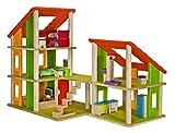 PlanToys 1357602 - Chalet Puppenhaus mit Möbel