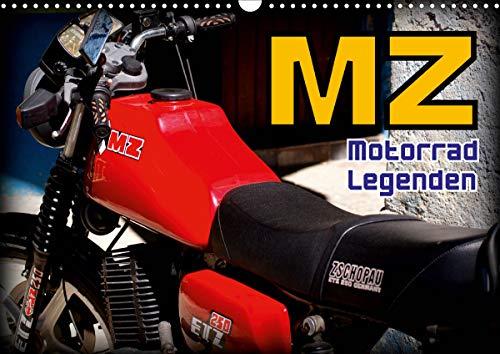Motorrad-Legenden - MZ (Wandkalender 2021 DIN A3 quer)