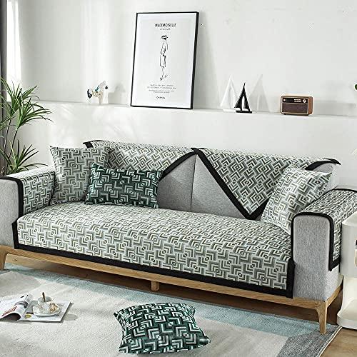 Homeen Cubierta de sofá Fresco de Verano,para 2/3/4 plazas,Cubiertas de Banco Antideslizantes,Almohadillas de enfriamiento de sofá,Escudo de sofá seccional de Universl-Beige_Funda de Almohada de 45 *
