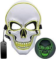 Máscara de Halloween LED, Máscara de purga 3 modos de iluminación, Máscara de miedo de Halloween Máscara de miedo para...