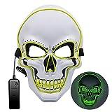 Máscara LED de Halloween, Máscara de purga 3 modos de iluminación, Máscara de miedo de Halloween Máscara de miedo para adultos, niños, Disfraces de fiesta en celebraciones y fiestas de Cosplays 003