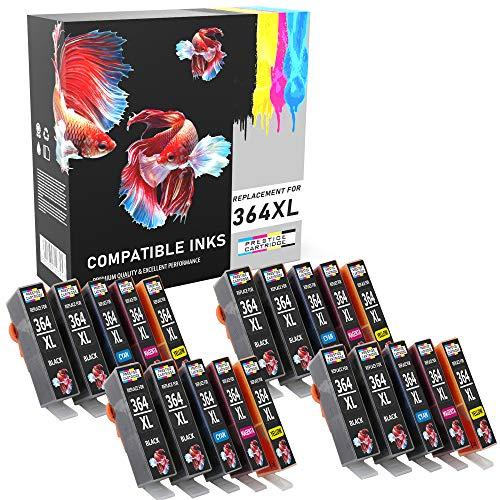 Prestige Cartridge 364 364XL Cartuchos de Tinta Compatible con HP Photosmart 5520 5510 6520 7520 7510 6510 B209a C6380 C309a Officejet 4620 Deskjet 3520 3070A | Pack de 20