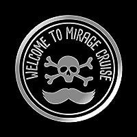 MIRAGE ミラージュ CRUISE カッティング ステッカー シルバー 銀