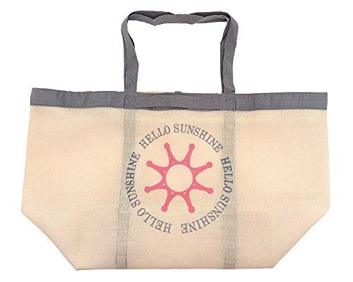 【Hello Sunshine/ハローサンシャイン】 ランドリーバッグ (洗濯・乾燥機OK) 特大 ベージュ LAU-02-2