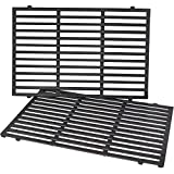 X Home 7638 Grill Grates for Weber Spirit 300 Series Spirit E310 Spirit 310, for Weber Genesis Silver & Gold Series, Heavy Duty Cast Iron, 17.5 x 11.9 inch, 2-Pack