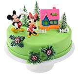 Les Colis Noirs LCN - Kit de Decoration Mickey et Minnie avec Maison Disney - Gateau d'anniversaire Patisserie - 478