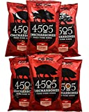 4505 Meats Chicharrones Fried Pork Rinds, Classic Chili & Salt, 2.5 Ounce, 6 Count