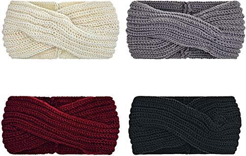 Sgualie 4 Pack Headbands Elastic Criss Cross Head Wrap Hair Band Cute Hair Accessorie,4 Pack Style 13