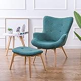 TJLSS Presidente de Contorno Retro Moderno con el pie de heces for la Sala de Estar Mobiliario de Dormitorio Sillón copetudo butaca Decorativa (Color : D)