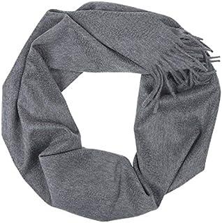 MA.AL.BI. 1947 Sciarpa cashmere uomo donna 100% cashmere effetto zibellinato 37X180 cm
