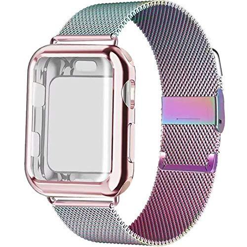 TKPOLD 2021, Caso + Correa para la Banda de Reloj de Apple 44 mm 40 mm 42mm 38mm 42 40 Acero Inoxidable para Pulsera de iWatch para la Serie de Relojes Apple 5 4 3 44mm