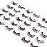 Wleec Beauty Dramatic Eyelash Pack Handmade Crisscross Fake Eyelashes 15 Pairs 3D Faux Mink False Lashes #3D/FM33