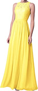 Prom Dress Long Evening Gown Chiffon Lace Bridesmaid Dresses