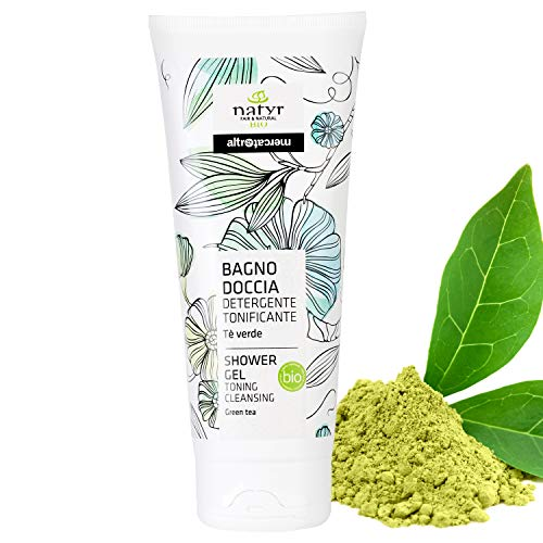 Natyr Bio Duschgel mit grünem Tee 200 ml - reinigend, entgiftend und vitalisierend für strahlend schöne Haut