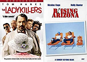 Joel and Ethan Coen Brothers 2-Movie Set - The Ladykillers (Tom Hanks) and Raising Ariona 2-DVD Bundle