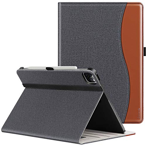 ZtotopHülles Hülle für Neu iPad Pro 12.9 2021(iPad 5. Generation), Premium Leder Leichte Geschäftshülle mit elastischer Stifthalter, Mehrfachwinkel, Kartensteckplatz, für iPad 12,9