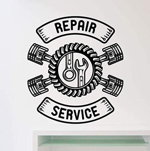Service de réparation de voiture stickers muraux Stickers muraux créatifs décoration de la maison salon chambre cuisine art autocollants 58X66Cm